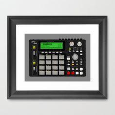 Akai MPC 1000 Framed Art Print by Matt Hunsberger - $33.00