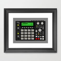 Akai MPC 1000 Framed Art Print by Matt Hunsberger - $33.00