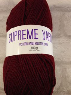 Supreme Yarns burgundy colour 100 gram ball of by Bitsandbobstopia Cheap Yarn, Burgundy Colour, Yarns, Supreme, The 100, Winter Hats, Trending Outfits, Unique Jewelry, Handmade Gifts