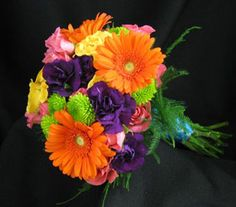 Multi Colored Bridesmaids Bouquets I Also Like This
