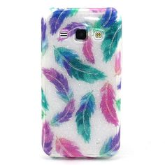 Feather Pattern with shimmering TPU Soft Case for Samsung Galaxy Grand Prime / Galaxy Core Prime / Galaxy J7/J5/J1 2016 - $6.99
