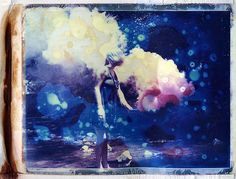 Smoke with Nico Apo.  Color shot: Polaroid ID-UV (manipulated)  Black and White - Tri-X & Delta 100 (manipulated)