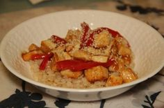 Sesame Tofu.  Recipe by: Motivated by Food.   Comment: use low fodmap vegetables with this recipe