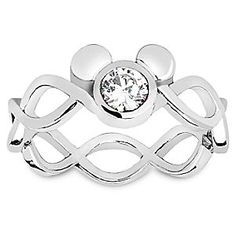 Mickey Mouse Single Crystal Eternity Ring by Arribas Brothers | Disney Store A single faceted Swarovski crystal forms the centre of the dazzling Mickey icon that decorates this sterling silver eternity ring. Symbolizing your infinite love, this romantic silver band by Arribas Brothers comes in an elegant gift box.