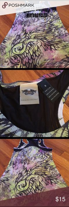 NWOT Harley Davidson sz small top NWOT SEXY racerback tank. Harley Davidson size small. Gorgeous colors Harley-Davidson Tops Tank Tops