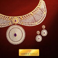 Stunning embedded stone pendant necklace and earrings..