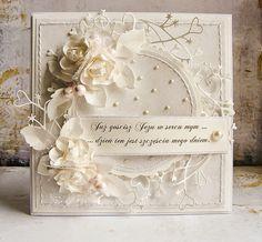 Dorota_mk: Complete Communion and wedding Shabby Chic Karten, Shabby Chic Cards, Wedding Cards Handmade, Beautiful Handmade Cards, Scrapbook Cards, Scrapbooking, Pinterest Cards, Spellbinders Cards, Engagement Cards