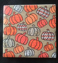 A personal favorite from my Etsy shop https://www.etsy.com/listing/479969871/pumpkin-decorative-tilecoaster