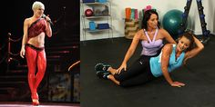 Try This Bikini-Abs Series From Pink and Stacy Keibler's Trainer! Yes.