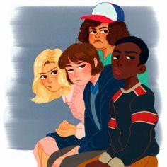 mouthbreathers... Stranger Things Have Happened, Stranger Things Netflix, Stranger Things Fan Art, Art Pastel, Fanart, Stranger Danger, Sherlock, Steven Universe, Character Design