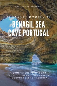 Benagil Cave or Algar de Benagil, its Portuguese name, is spectacular inside the cave with the sunlight streaming through the roof and the golden sand and beautiful azure waters.  It is a natural wonder of the world and pure travel inspiration for those who have not been.  This part of the world has a lot of rock formations along the coast.