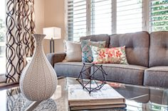 Family Room | Interior Decor | Home Staging | Neutral Decor | Home Accessories | Living Room Inspiration Interior Decorating, Interior Design, Home Staging, Home Organization, Room Interior, Room Inspiration, Family Room, Neutral, Throw Pillows