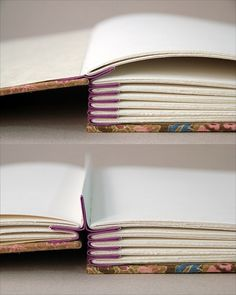 An idea for making your own photo books, out of any book! Just cut out several pages and tape them.. then skip some and repeat. Nice for a travel book of you holiday location!