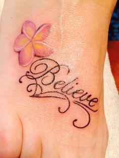 Foot tattoo :)