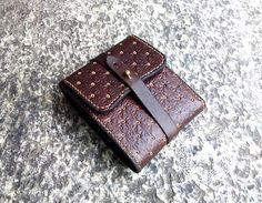 Brown Embossed Leather Wallet