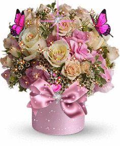 GIFS HERMOSOS flores encontradas en la web