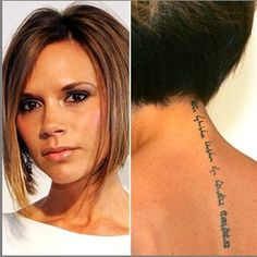 http://tattoomagz.com/spine-tattoos-for-women/victoria-beckhams-tattoos-black-and-white/: