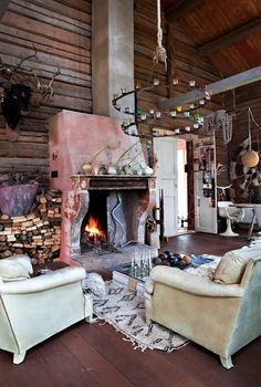 Rustic and creative living room