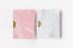 Print with marble and gold foil sticker detail by Triangle Studio.