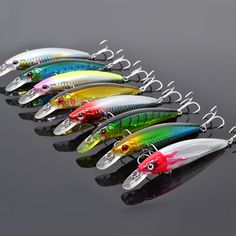 2017 8X Various Colors Fishing Lure Trulinoya MINNOWS DW03 110mm 13g hard lure/baits