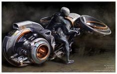Logan's Run concept art by Ed Natividad Check out Logan's Run concept art and storyboards by Trevor Goring, Ed Natividad a. Futuristic Motorcycle, Futuristic Cars, Futuristic Design, Futuristic Vehicles, Concept Ships, Concept Cars, Alien Concept, Logan's Run Remake, Rpg Cyberpunk