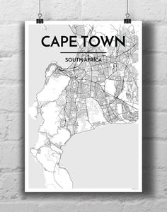 Generated from real data points and using architectural tools of the trade, each city map print features the most recognizable forms comprising of land, water and city streets. Each city map is printe Map Art, Cape Town, Poster Wall, Thoughtful Gifts, A Team, Vintage Art, Art Prints, South Africa, City Streets