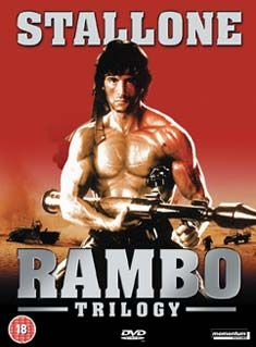 The original movies made in the 80s (I think). Stallone was awesome at playing Rambo.