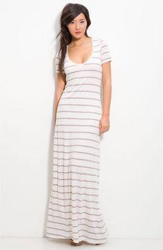 Splendid Stripe Column Maxi Dress in White (macadamia)- Need this! Striped Maxi Dresses, Casual Dresses, Fashion Dresses, Summer Dresses, Long Dresses, Dress Skirt, Dress Up, Ladies Day Dresses, Column Dress