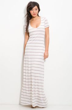 Splendid Supima Cotton Stripe Column Maxi Dress, $128.00