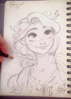 Rapunzel disney sketches в 2019 г. disney drawings, princess drawings и art Disney Drawings Sketches, Disney Character Drawings, Cute Disney Drawings, Girl Drawing Sketches, Disney Princess Drawings, Disney Princess Art, Cool Art Drawings, Disney Fan Art, Easy Drawings