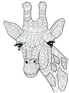 giraffe head coloring pages - Cute Giraffe Coloring Pages Giraffe is a cute animal who lives in Sabana in Africa. Your children surely would like to color our collection of giraffe image to color here. Giraffe Coloring Pages, People Coloring Pages, Printable Adult Coloring Pages, Flower Coloring Pages, Mandala Coloring Pages, Coloring Pages To Print, Coloring Pages For Kids, Coloring Books, Coloring Sheets