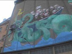 PGR Mostro sul Candiano Wall painting di Ericailcane, uno dei più originali e interessanti esponenti della scena street art internazionale, per Ravenna 2019     #streetart #ericailcane #ravenna2019