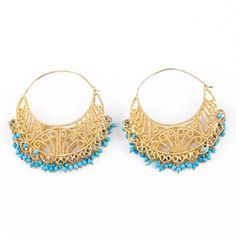 Hoop Earrings With Turquoise now featured on Fab.