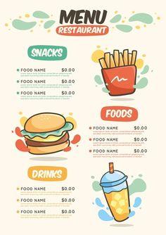 Pizza Menu Design, Cafe Menu Design, Menu Card Design, Food Menu Design, Food Poster Design, Restaurant Menu Design, Creative Poster Design, Food Packaging Design, Packaging Design Inspiration
