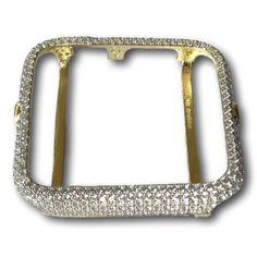 Brumar Series 1 Apple Watch Lab Diamonds Bezel Insert 14K Yellow Gold