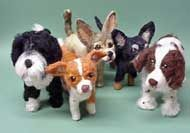 Wool sculptures of your dog - Amelia can make them look exactly like your pup using a picture!