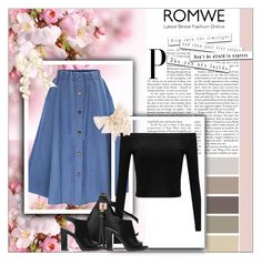 """""""Romwe"""" by lea-a-182 ❤ liked on Polyvore featuring WithChic and Michael Kors"""