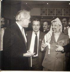 septembre 1987 Rachid Sfar avec YASSER ARAFAT