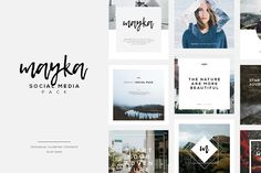 Mayka | Social Media Pack by Angkalimabelas on @creativemarket