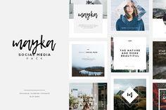 Mayka   Social Media Pack by Angkalimabelas on @creativemarket
