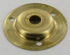 STAMPED BRASS FLANGE WITH 1/8ips SLIP HOLE AND (3) 8/32 SLIP HOLES. 2in. Wide X 1/4in. High