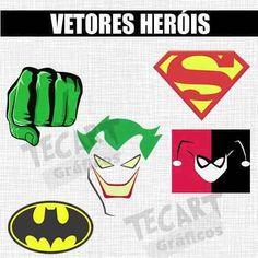 30 vetores de heróis p/estampa - silk, sublimação,transfer