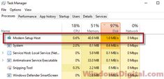 Computer Is Slowing Down Due To Modern Setup Host Setuphost Exe Is Causing High Cpu Usage Or High Disk Usage 100 In Windows 10 Windows 10 Disk Setup