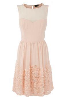chiffon tapework dress