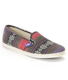 Vans Girls Guate Stripe Slip-On Shoe