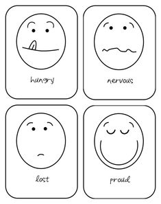 Busy Bubbers: emotion flash cards | Hopes and Dreams