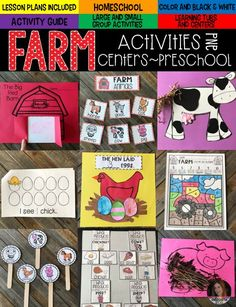 Farm Activities were created with preschool in mind. This unit would also work well in a kindergarten classroom. The boys and girls will learn important math, literacy and book comprehension concepts, strategies and skills through book/fact centered lessons and activities. The lesson plans are ready, all you need to do is find the popular books on your shelf and print/prep the easy to prep projects and activities.