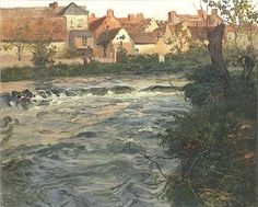 Landscape and River - Frits Thaulow