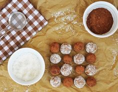 Anja's Food 4 Thought: date-almond-coconut truffles (raw)