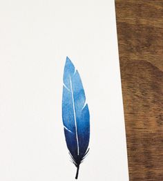 Ombre Feather - Watercolor Painting | Art Pieces | Anna Tovar | Scoutmob Shoppe | Product Detail